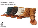 spr10P05Apr13 fringe belt boots Sandals 3 colors women's