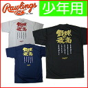 "A special price! ""Baseball is the best"" Rawlings; limited article RYE802-B for back print T-shirt boys"