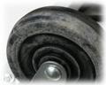 車輪部にキズや汚れがあります。 (機能的には問題ありません。)