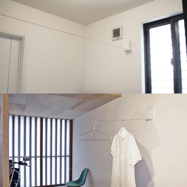 森田アルミ工業 室内物干ワイヤーPID 4M【D】