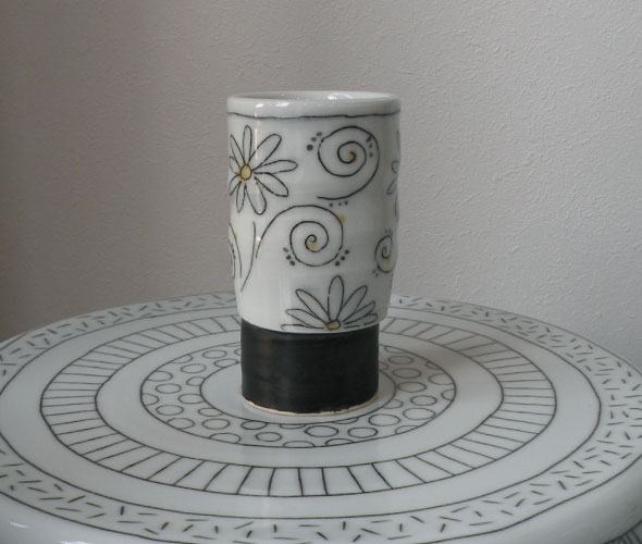 [hana玻璃杯(小)]手工制作的无玻璃杯茶杯