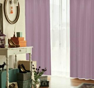 紫色のカーテンの使用イメージ