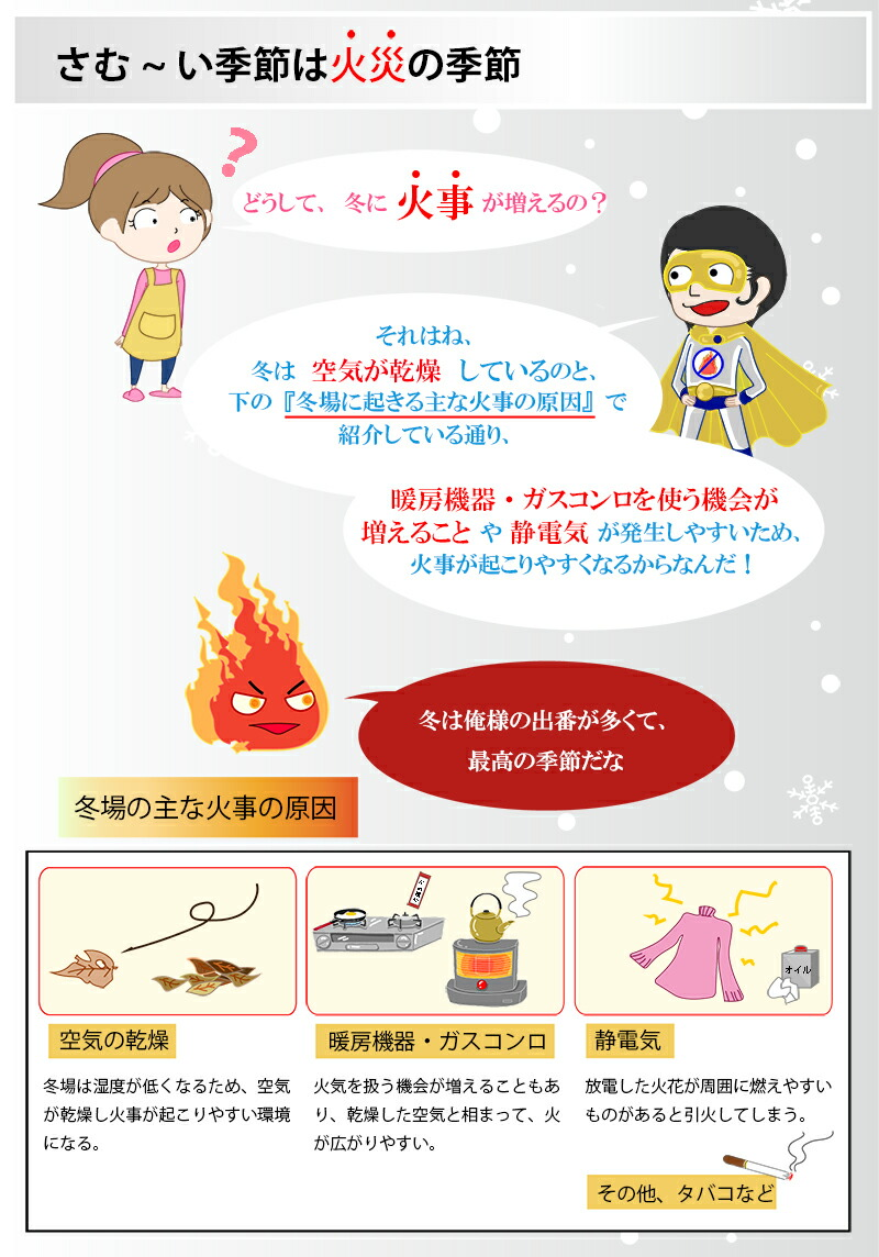 さむーい季節は火災の季節