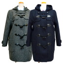 KURI-ORI Wool-blend  Duffel coat  for girls navy / gray KRCT-D