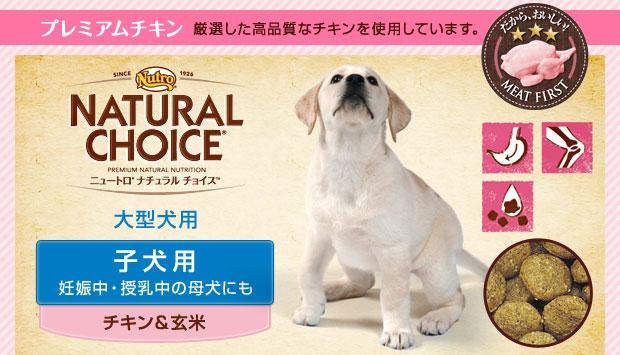 ニュートロ ナチュラルチョイス 子犬用(妊娠中・授乳中の母犬にも) 大型犬用 チキン&玄米