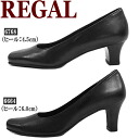 Lead [fs3gm] of Regal shoes Recruit / job hunting / commuting / ceremonial occasion ladies pumps ○ shoes mail order shoes made in Regal shoes Lady's pumps black four circle REGAL 6664/6768 L8 real leather Japan