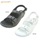 Nurse Sandals black white ピュアウォーカー health nurse shoes Sandals Office purewalker HEALTH PW7608 weight, fatigue sandal fatigue-