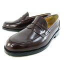 HARUTA 9136 mens-leather loafers 4E Brown-[HRD]