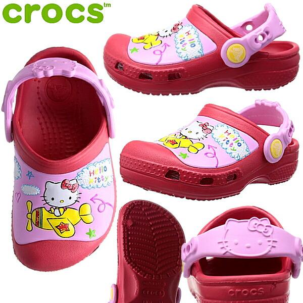 Shoes shop LEAD  Rakuten Global Market Crocs creative clog Hello Kitty Plai