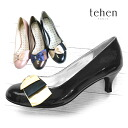 -TehenTN6189 satin ribbon with! Round toe women's enamel pumps 3 colors
