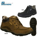 Skechers shape ups mens leather moccasin boots SKECHERS RELAXED FIT 63382 sneaker boots casual style work boot men's sneaker boot-