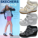 インヒール sneakers Skechers インヒール thickness bottom sneakers ハイソール sneakers SKECHERS SKCH Plus 3-Staked OLV Isabel marant style high cut sneakers women's shoes shoes ladies sneaker-[]
