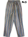 ( カツオジマ ) Skipjack striped trousers, homeware, gown, Kurume weave made in Japan fs3gm