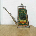 Olive oil pot /OIL CAN 500 cc type oval handle PEAR