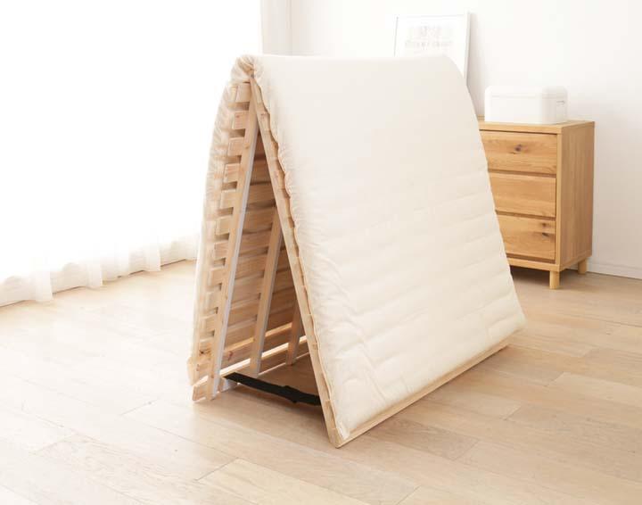 すのこベッドひのきすのこマット国産すのこベッドすのこマットすのこマットすのこベッド檜すのこベッド2つ折りダブル