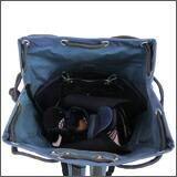 ナイロンリュック剣道防具袋 防具収納イメージ