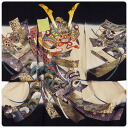 Among freehand drawing Kyoto yuzen hat set presents in winter latest the autumn of 2013!