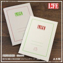 Come the special LIFE pistachio A6 note (squared, ruled) paper writing feel!