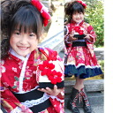 «七五三 advance sale» shichigosan kimono kimono dress flowers temari (red) for children shichigosan kimono new year set contents. Kimono dress (with lining) +-making zone, set of 2