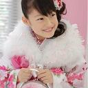 White perfection amount-limited industrial goods for Seven-Five-Three Festival shawl New Year holidays for swan shawl (marabou) fur 3 years old - 7 years old