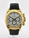 16518 ROLEX Cosmo graph Daytona white dial self-winding watch K18YG/ leather