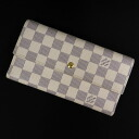 LOUIS VUITTON three fold long wallet ポルトトレゾールインターナショナル N61732 long wallet (there is a coin purse) unisex fs3gm