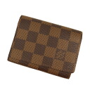 LOUIS VUITTON business card holder-cult de visite N62920 card put the Damier Canvas unisex