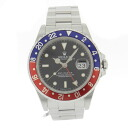ROLEX16700 Oyster Perpetual date GMT-master 1 men's watch SS