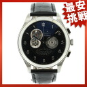 ZENITH Zenith class open エルプリ watch black leather men's