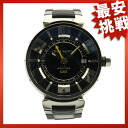 LOUIS VUITTON Tambour GMT Q113K watch SS / rubber men