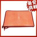 Stingray leather double fastener travel case second bag Galusha leather unisex