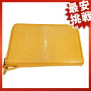 Stingray leather double fastener travel case second bag Galusha leather unisex