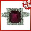 SELECT JEWELRY lead impregnation ruby / diamond ring platinum PT900 Lady's fs3gm