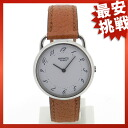 HERMES arceau watch SS / leather men's