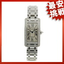 CARTIER tank American SM watch K18WG Lady's
