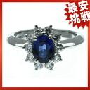 TIFFANY & co... Sapphire / diamond ring Platinum PT950 ladies