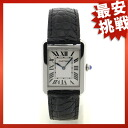 CARTIER tank solo SM watch SS/ leather Lady's
