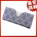 CELINE デニムマカダム long wallet wallet ( purses and ) denim x Leather Womens