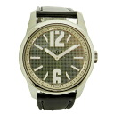 BVLGARIST37SL solotempo watch SS / black leather men's