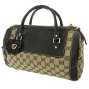 GUCCIGG canvas interlocking grip oblong bag handbag canvas x leather Lady's fs3gm