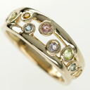 SELECT JEWELRY multicolored stone ring K18 pink gold Lady's fs3gm
