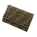 FENDI ズッカ pattern wallet folio wallet (there is a coin purse) canvas unisex