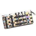 The TSUMORI CHISATO multi-leather long wallet long wallet (there is a coin purse) leather Lady's which includes it