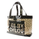 SEE BY CHLOE logo leopard pattern tote bag enamel vinyl x canvas Lady's