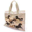 HERMES horse print bag ラージマザー tote bag canvas cotton unisex fs3gm