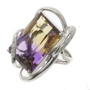 SELECT JEWELRY Ametrine / diamond ring K18 white gold ladies upup7