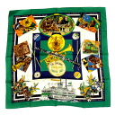 HERMES Carre Jazz pattern scarf silk ladies
