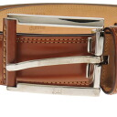 Dunhill stitch belt leather men's upup7