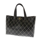CHANEL Wilde stitch tote bag leather Lady's fs3gm