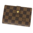 LOUIS VUITTON ポルトフォイユ ヴィエノワ N61674 folio wallet (there is a coin purse) ダミエキャンバスレディース fs3gm